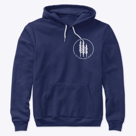 Happy Holy Hour Tree Logo Navy T-Shirt Front