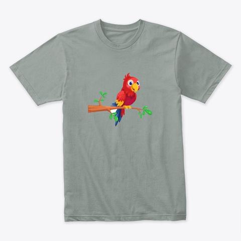 Parrot Warm Grey T-Shirt Front