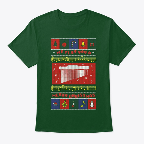 Chimes Ugly Christmas Deep Forest T-Shirt Front