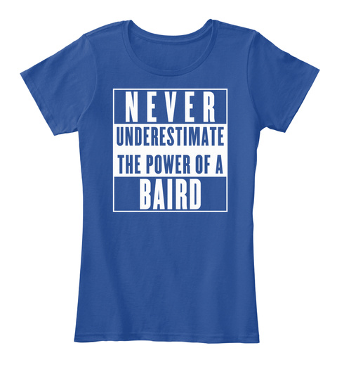 Baird This Is My Power. Deep Royal  T-Shirt Front