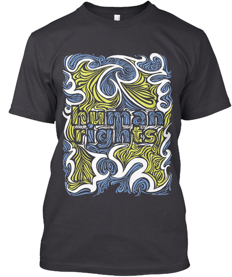 Human Rights Charcoal Black Camiseta Front