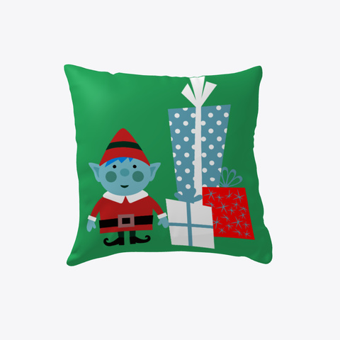 Christmas Elf Pillows & Home Decor Green T-Shirt Front