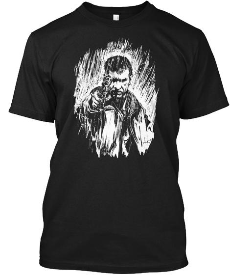 Blade Runner Rick Deckard Version For Da Black T-Shirt Front