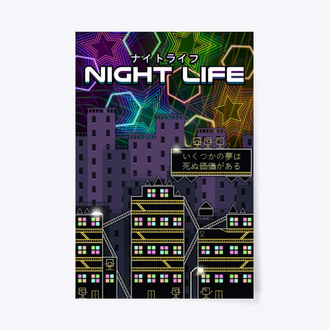 Night Life Poster Standard T-Shirt Front