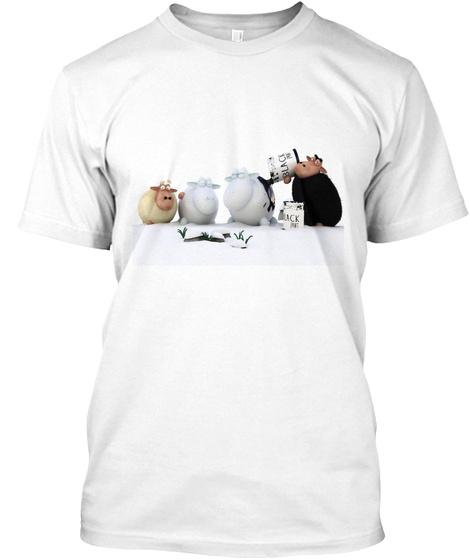 4 Sheep White T-Shirt Front