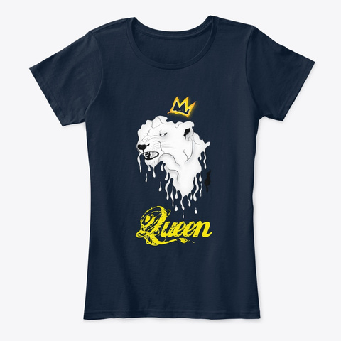 Judah Clothing Lioness Queen New Navy T-Shirt Front