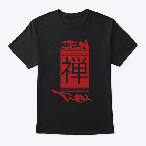 Zen Real   Flagship Tee Black T-Shirt Front