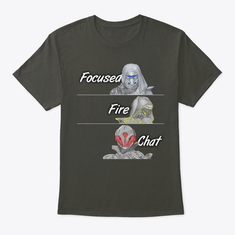 Focused Fire Chat 2019 Smoke Gray T-Shirt Front