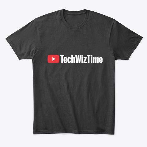 Tech Wiz Time You Tube Play Black T-Shirt Front