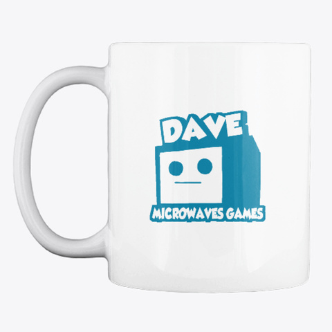 The Double Dev Mug White T-Shirt Front