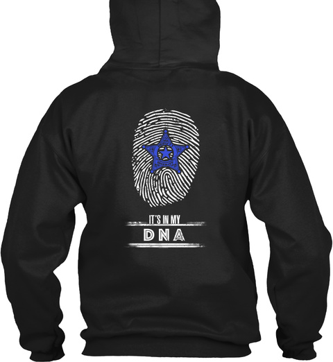 It's In My Dna Black T-Shirt Back