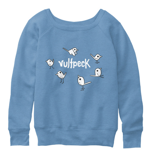 Vulfpeck Blue Triblend  T-Shirt Front