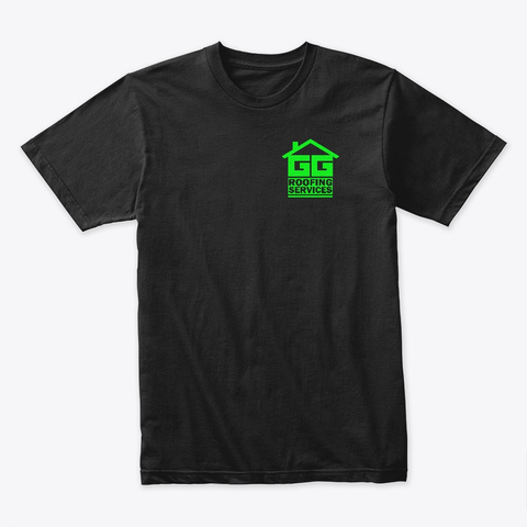Gg Roofing Tee Black T-Shirt Front