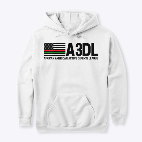 A3 Dl White Hoodie White Sweatshirt Front