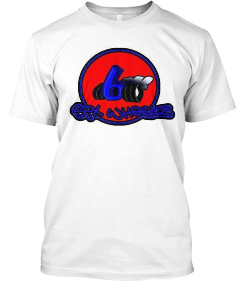 Six Wheelz White T-Shirt Front