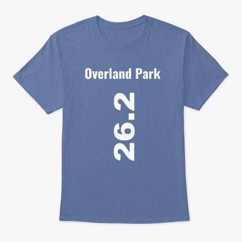 Marathoner 26.2 Overland Park Denim Blue T-Shirt Front