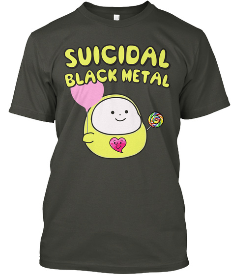 Suicidal Black Metal Smoke Gray T-Shirt Front