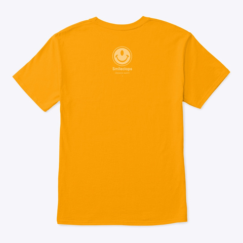 Smileclops™ See For Yourself Mellow Print Gold Kaos Back