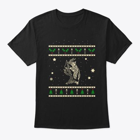 Christmas American Bobtail Gift Black T-Shirt Front
