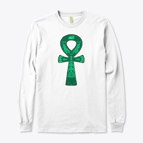 Egyptian Ankh White T-Shirt Front