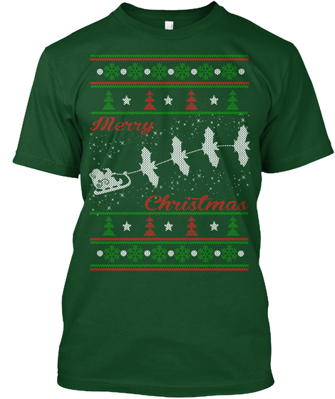 Merry Christmas Deep Forest T-Shirt Front