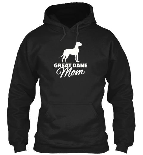 Women's Great Dane Mom T Shirt Small Bla Black T-Shirt Front