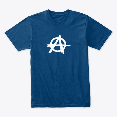 Peace, Love & Anarchy Cool Blue T-Shirt Front