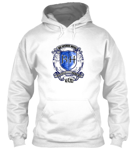 Hawkins / Russell Family Hoodie Arctic White T-Shirt Front