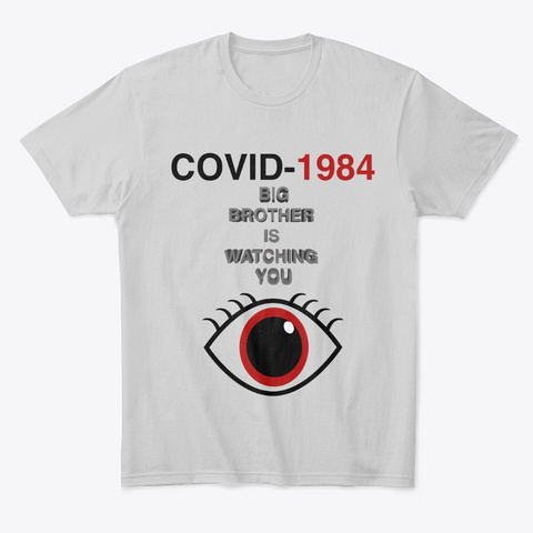 Covid 1984 Light Heather Grey  T-Shirt Front