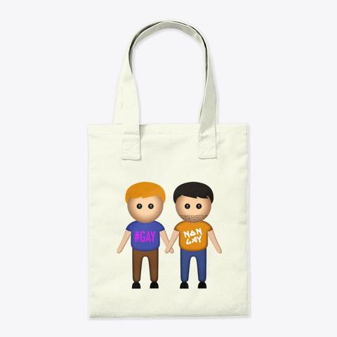A Gay & A Non Gay   Bag Natural T-Shirt Back