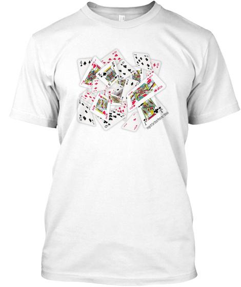 A J K 8 9 5 Q White T-Shirt Front
