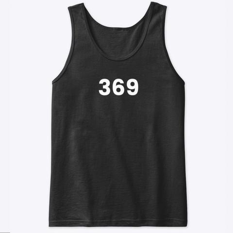 Tank Top: 369 Black T-Shirt Front