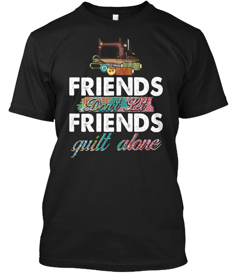 Friends Black T-Shirt Front