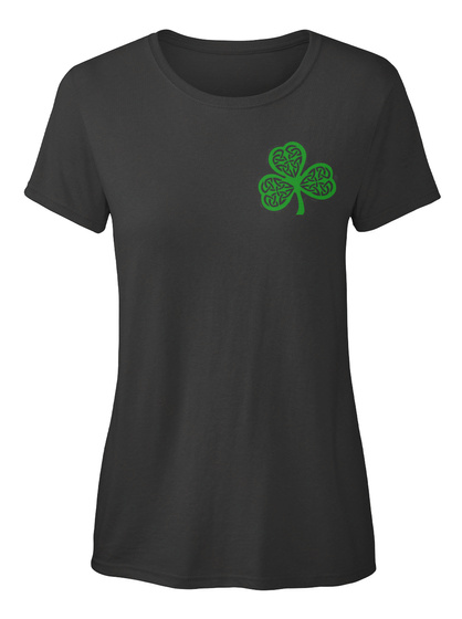 Irish   Irish American Flag Black Women's T-Shirt Front
