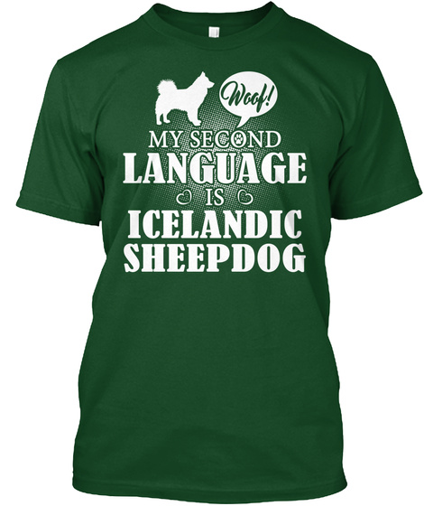 Icelandic Sheepdog Deep Forest T-Shirt Front