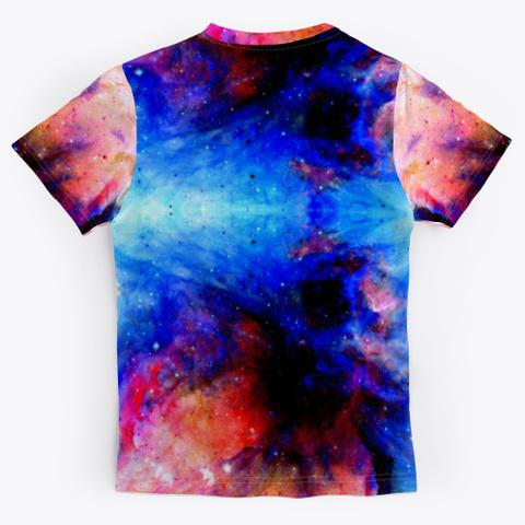 Fukuhana   Colorful Space Batik Mandala Standard T-Shirt Back
