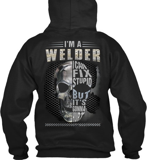 Welder Hoodie Christmas Special Black T-Shirt Back