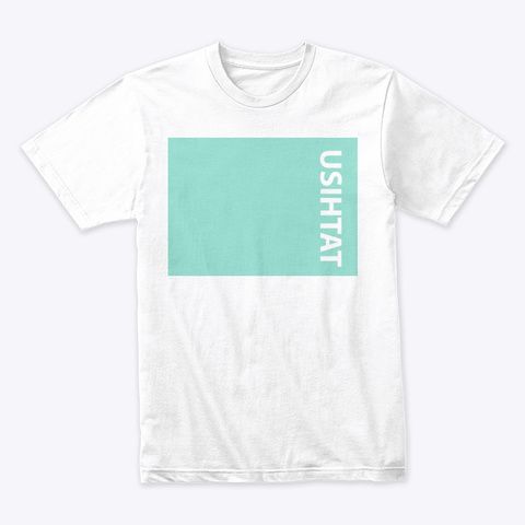 Team Teal Logo White T-Shirt Front