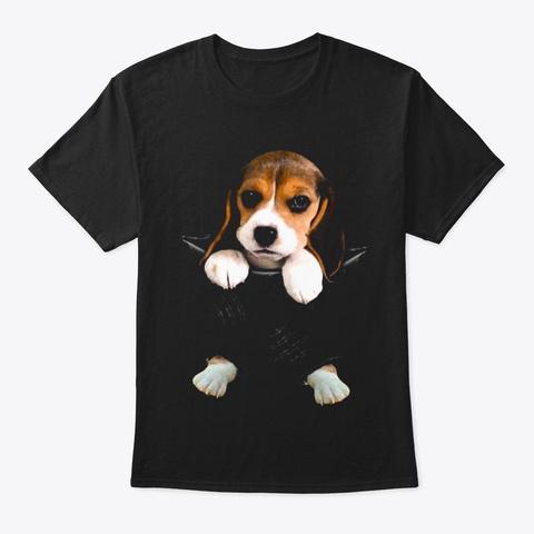 Beagle Scratch Black T-Shirt Front
