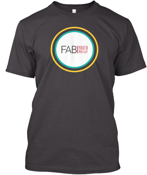 Fab Youth Philly Heathered Charcoal  T-Shirt Front