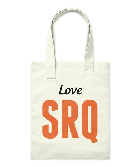 Love Srq Natural Tote Bag Front