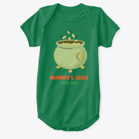 Mummys Irish Baby Boy Kelly T-Shirt Front
