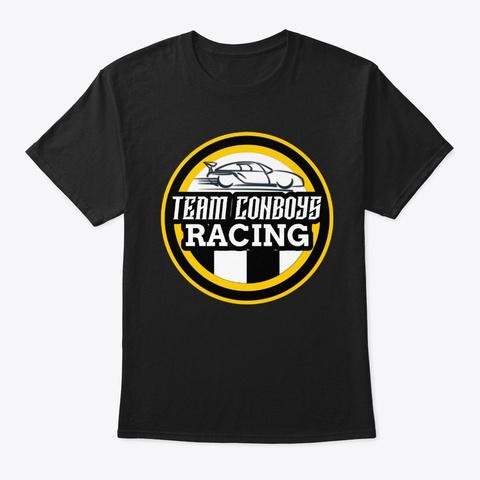 Team Con Boys Racing Team Front Logo Black T-Shirt Front
