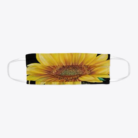 Sunflower Face Mask Standard T-Shirt Flat