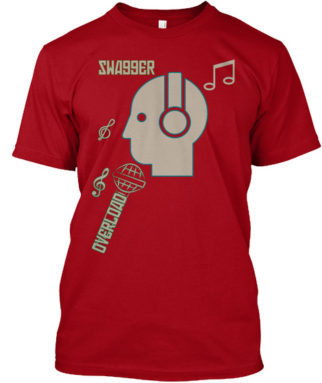 Swagger Overload Deep Red T-Shirt Front