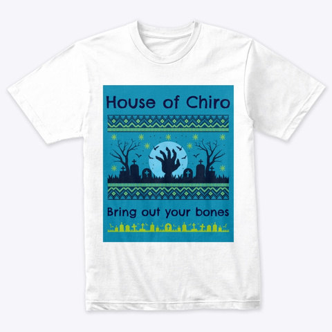 House Of Chiro (V.2) Heather White T-Shirt Front