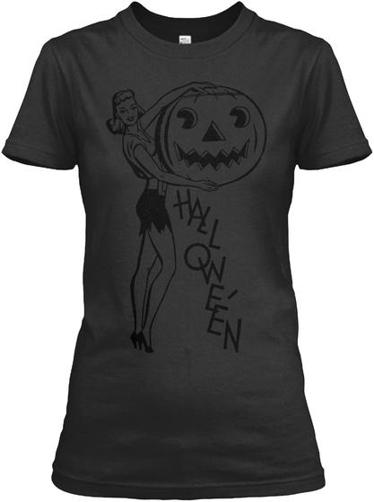 Halloween Black Women's T-Shirt Front