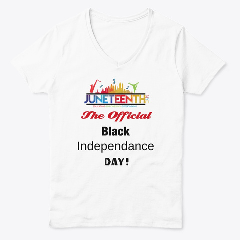 Ladies Juneteenth Tee White  T-Shirt Front