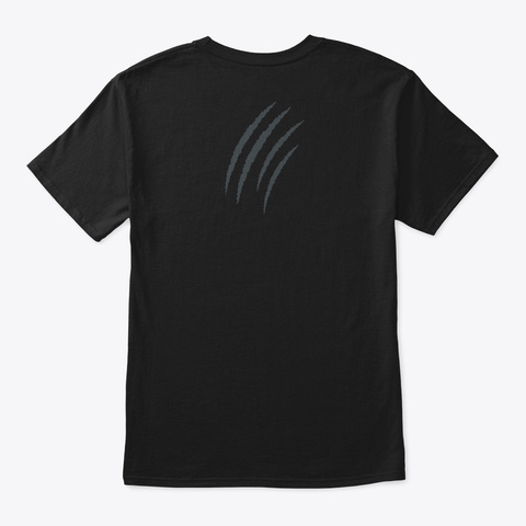 Tiger Claws Black T-Shirt Back