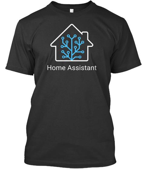 Home Assistant Black T-Shirt Front
